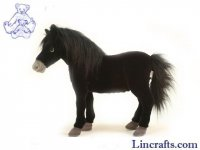 Soft Toy Horse Black by Hansa (50cm)