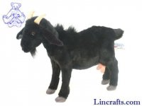 Soft Toy Black Goat by Hansa (35cm)