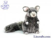 Soft Toy Grey Chinchilla by Hansa (18cm)