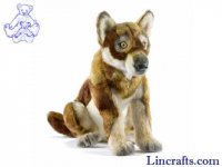 Soft Toy Wolf Brown by Hansa (30cm)
