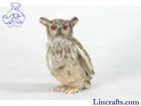 Soft Toy Bird of Prey, Eagle Owl by Hansa (25cm)