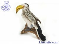 Soft Toy Bird, Yellow Hornbill by Hansa (26cm)
