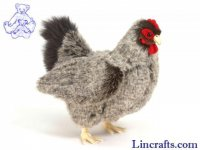 Soft Toy Bird, Grey Hen by Hansa (30cm)