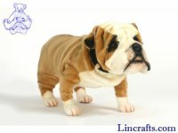 Soft Toy Dog, British Bulldog by Hansa (68cm)