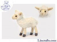 Soft Toy Sheep, White Lamb by Hansa (17cm) 5671