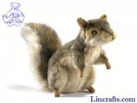 Soft Toy Grey Squirrel by Hansa (18cm)