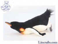 Soft Toy Bird, Penguin Diving by Hansa (30cm)