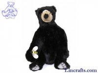 Soft Toy Black Bear by Hansa (24cm)