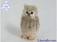 Soft Toy Bird of Prey, Screech Owl by Hansa (12cm)