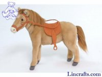 Soft Toy Horse with Saddle and Bridle by Hansa (37cm) 5810
