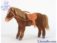 Soft Toy Brown Horse with Saddle & Bridle  by Hansa (37cm) 5811