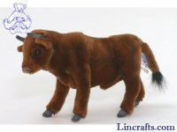 Soft Toy Brown Bull by Hansa (22cm) 5841