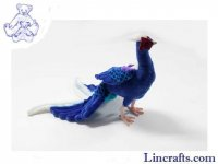 Soft Toy Bird, Swinhoe's Taiwanse Blue Pheasant by Hansa (30cm.H)