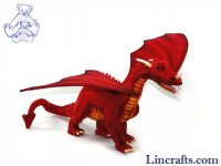 Soft Toy Red Dragon by Hansa (45cm body length)