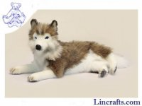 Soft Toy Lying Husky by Hansa (40cm)