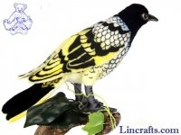 Soft Toy Bird, Regent Honey Eater by Hansa (16cm)