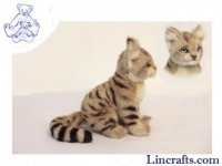 Soft Toy Sand Cat by Hansa (23cm)