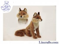 Soft Toy Red Fox Sitting by Hansa (30cm)