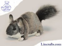 Soft Toy Grey Chinchilla by Hansa (30cm)
