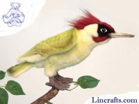 Soft Toy Bird, European Green Woodpecker by Hansa (20cm)