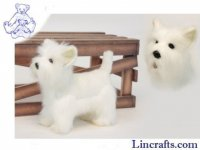 Soft Toy Dog, West Highland Terrier by Hansa (26cm.L)