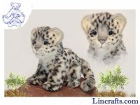 Soft Toy Wildcat, Snow Leopard by Hansa (18cm) 6356