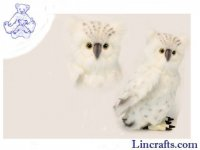 Soft Toy Bird of Prey, Snow Owl by Hansa (40cm)