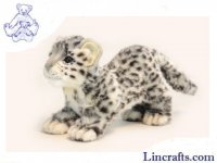 Soft Toy Wildcat, Snow Leopard Cub Prowling by Hansa (41cm.L)