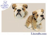 Soft Toy Dog, Bulldog by Hansa (32cm)