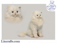 Soft Toy Cream Cat by Hansa (40cm.H)