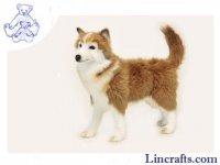 Soft Toy Dog, Husky by Hansa (50cm)