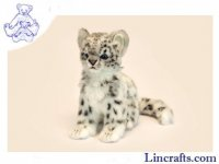 Soft Toy Wildcat, Snow Leopard Cub by Hansa (19cm)