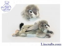 Soft Toy Grey Lop-Eared Bunny Rabbit by Hansa (40cm)
