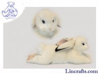 Soft Toy White Lop Eared Bunny by Hansa (40cm)