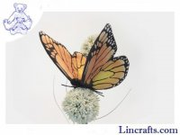 Soft Toy Monarch Butterfly by Hansa (14cm) 6551