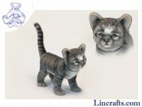 Soft Toy Cat, Grey Kitten by Hansa (30cm) 6574