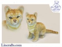 Soft Toy Cat, Ginger Kitten Sitting by Hansa (24cm.H)