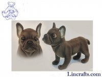 Soft Toy Dog, French Bulldog by Hansa (26cm.L)