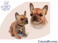 Soft Toy Dog, French Bulldog Sitting by Hansa (20cm.H)