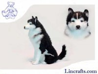 Soft Toy Husky Sitting by Hansa (37 cm.H)