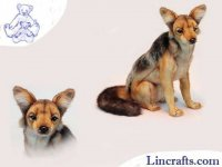 Soft Toy Black Backed Jackal by Hansa 33cm.H