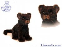 Soft Toy Black Jaguar by Hansa (20cm)