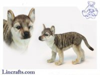 Soft Toy Wolf Cub Standing by Hansa (50 cm.L)