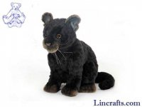 Soft Toy Wildcat, Black Jaguar by Hansa (25cm)
