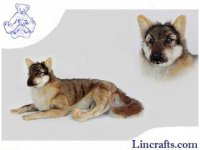 Soft Toy Wolf Lying by Hansa (66cm.L)