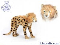 Soft Toy Cheetah Jacquard Cub Standing by Hansa 63cm.L