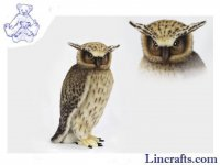 Soft Toy Bird of Prey, Fish Owl by Hansa (40cmH) 6776