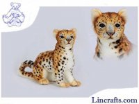 Soft Toy Leopard Amur Sitting by Hansa 27 cm.H