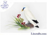 Soft Toy Bali Myna Bird by Hansa (18 cm.H)