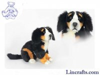 Soft Toy Dog, Bernese Pup by Hansa (56cmL)